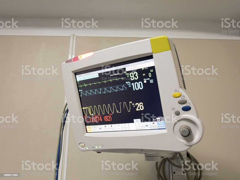 Hospital Patient Monitor stock photo