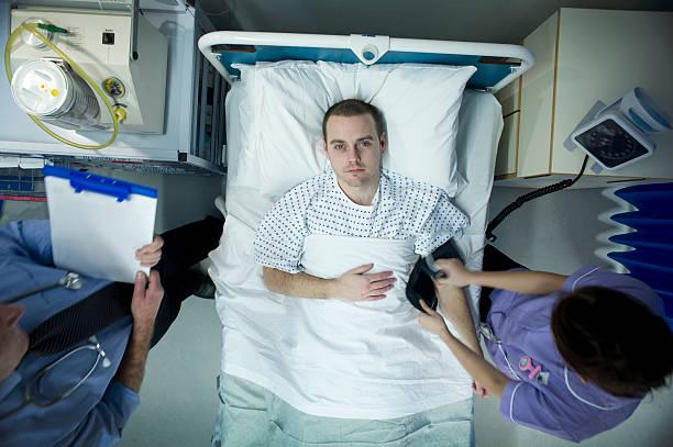 병원 환자 - 마약 남용 뉴스 사진 이미지