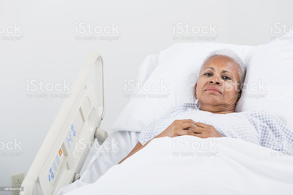 Hospital patient royalty-free stock photo