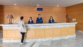 Hospital and Hotel reception desk