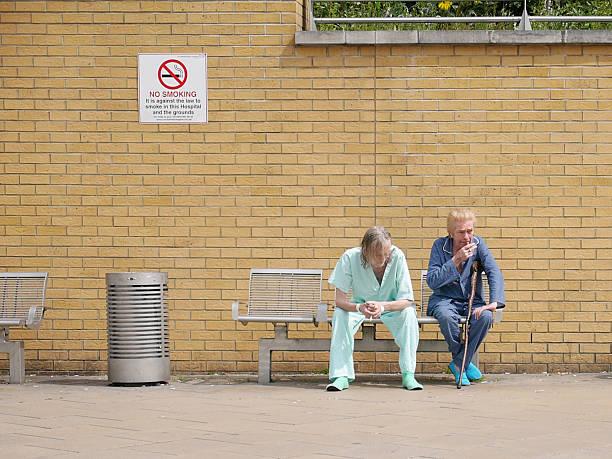 Krankenhaus Patienten Nichtraucher – Foto