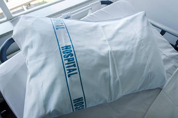 Hospital pillow stock photo
