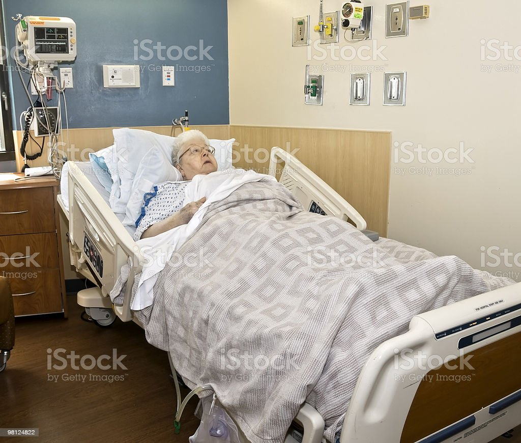 Ospedale camera paziente foto stock royalty-free