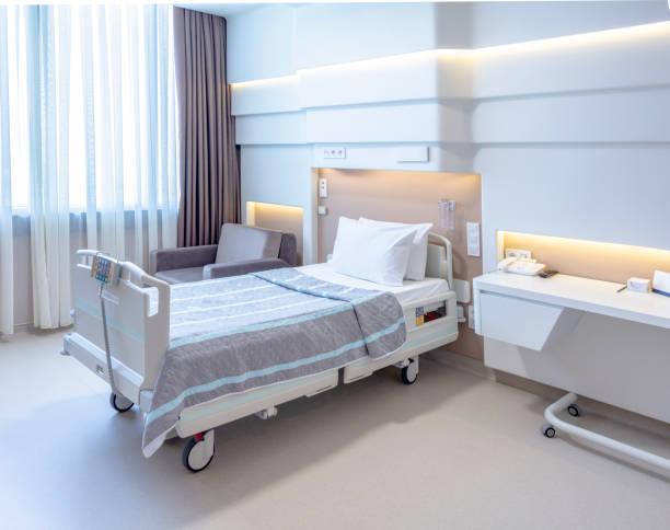 病室ベッドと快適な医療装備 - 病棟 ストックフォトと画像