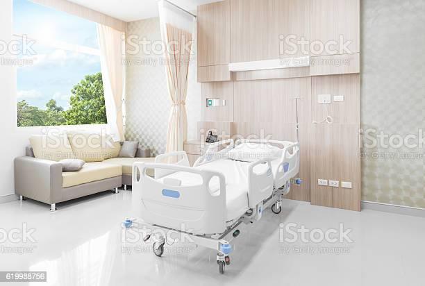 病院のベッドルームには設備の充実した快適な医療 - くつろぐのストックフォトや画像を多数ご用意