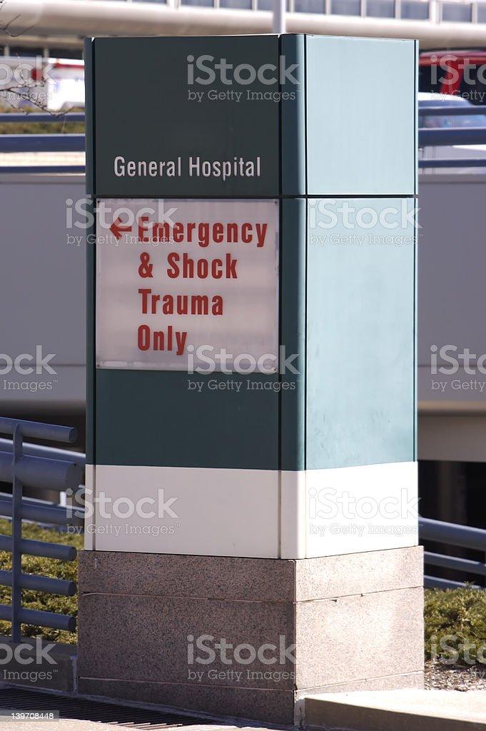 Hospital Sign royalty-free stock photo