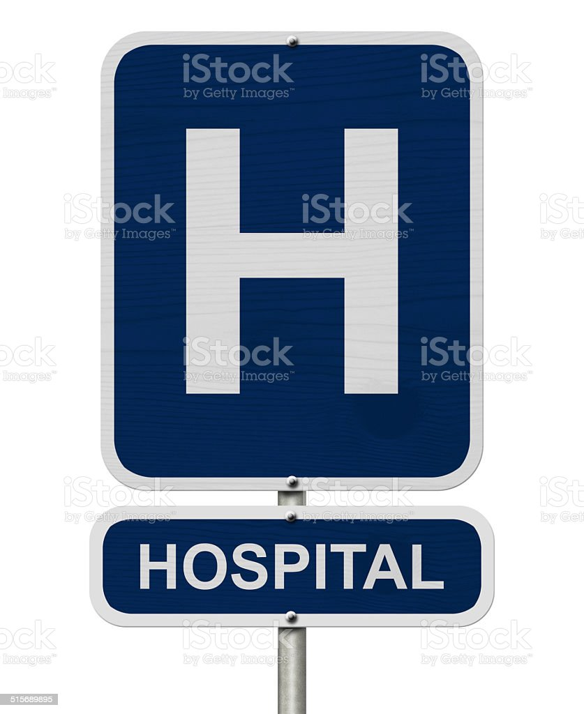 Hospital Sign stock photo