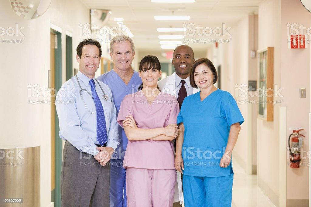 Hospital Team stock photo