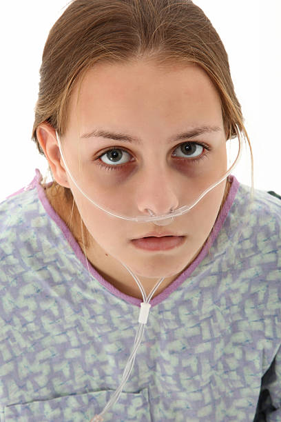 Hospital Teen  oxygen tube stock pictures, royalty-free photos & images