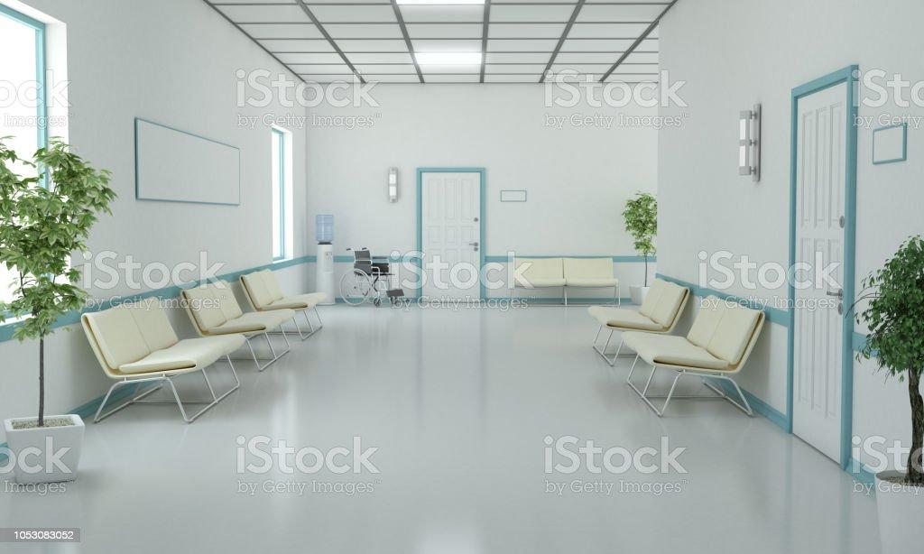 Hospital Waiting Corridor royalty-free stock photo
