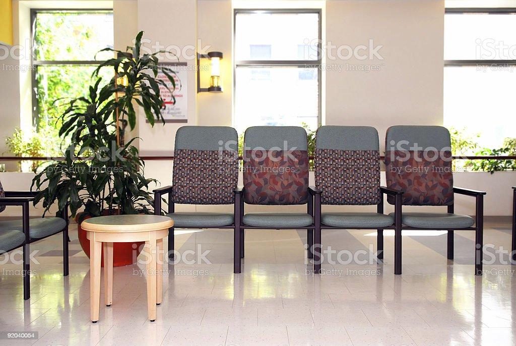 Hospital waiting room royalty-free stock photo
