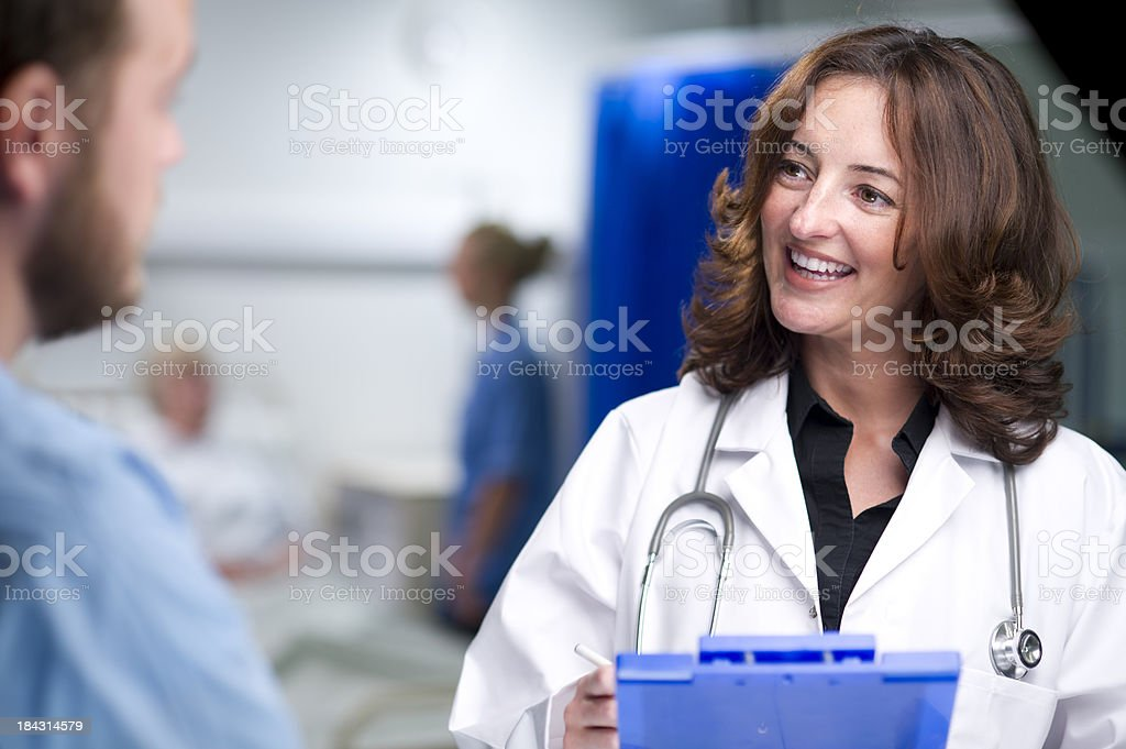 hospital ward discussion royalty-free stock photo