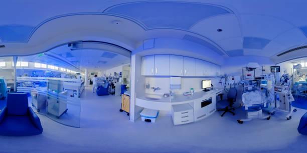 pabellón hospitalario para bebés nacidos prematuramente con iluminación ultravioleta - 360 fotografías e imágenes de stock