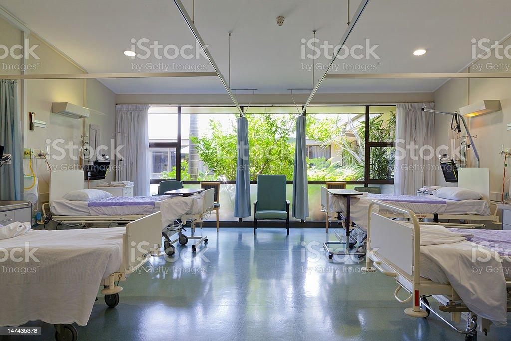Hospital ward stock photo