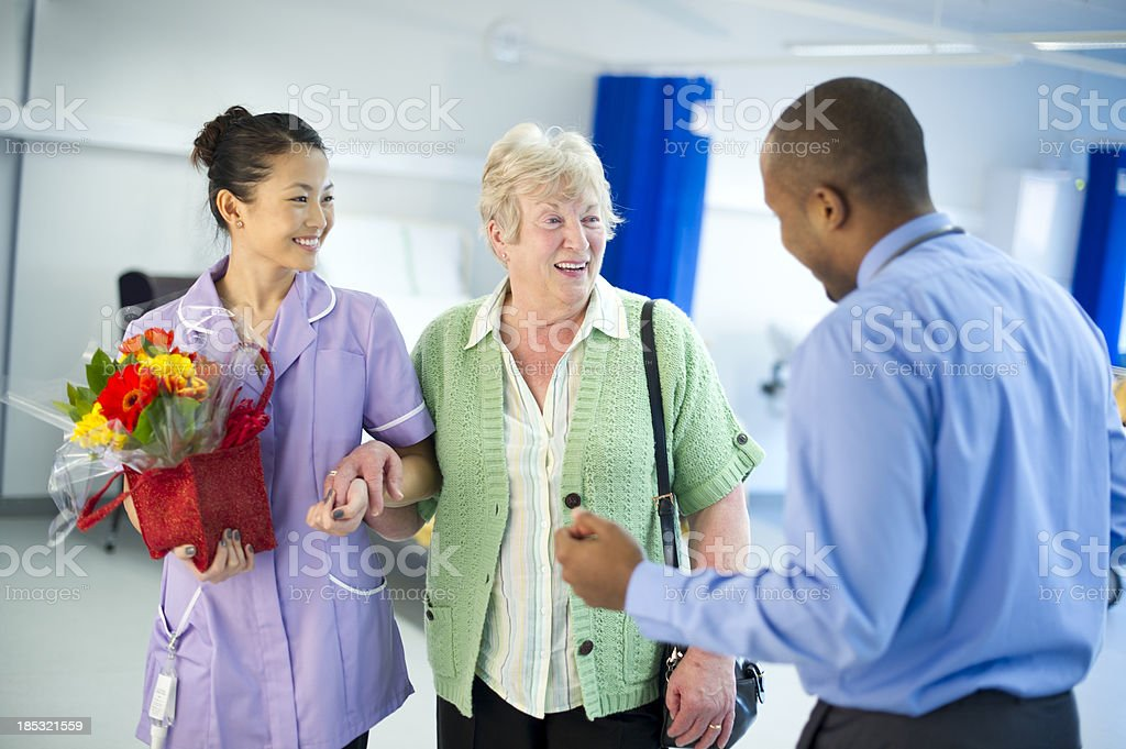 hospital welcome stock photo