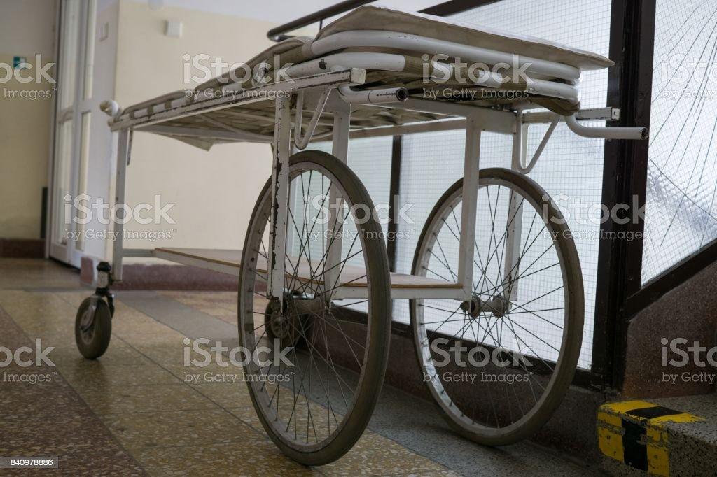 Hospital wheel bed. stock photo