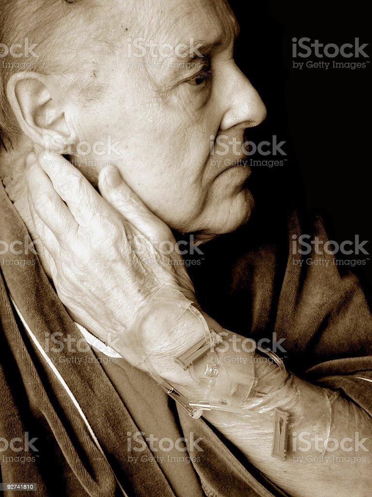 Hospitalized Man stock photo