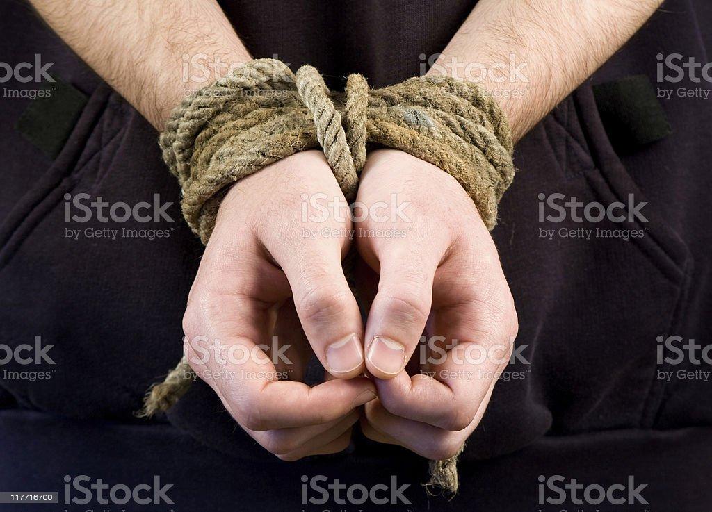 Hostage royalty-free stock photo
