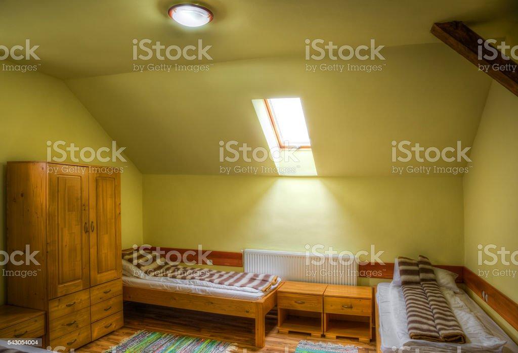 Hostel Room stock photo
