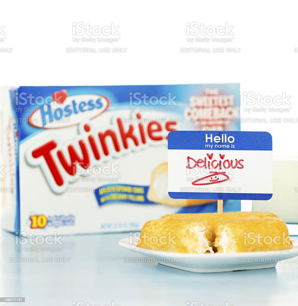 Hostess Twinkies are Delicious! royalty-free stock photo