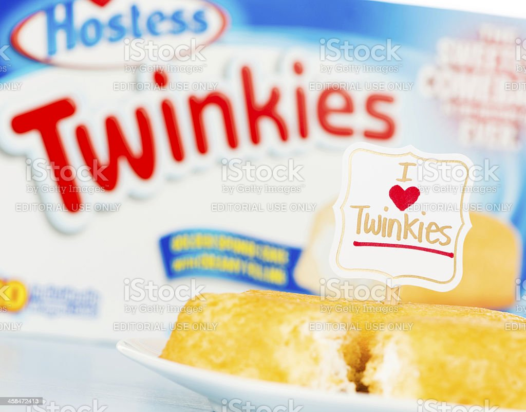 I LOVE Hostess Twinkies! royalty-free stock photo