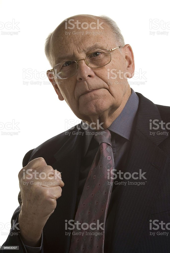 Hostile businessman royalty-free stock photo
