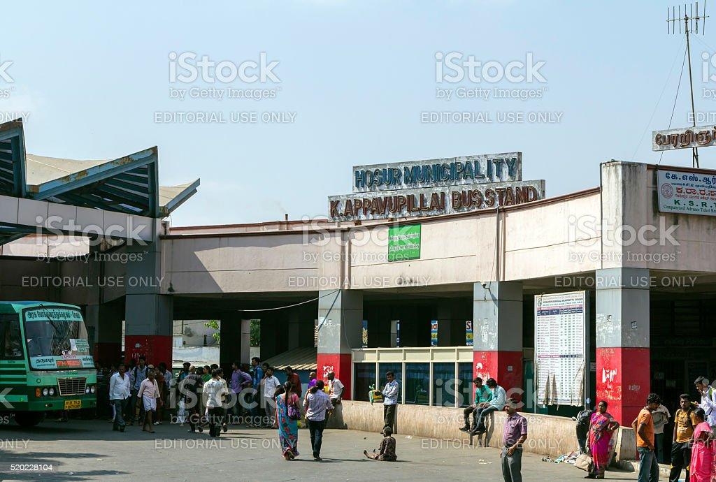 Hosur bus terminus, Tamil Nadu, India stock photo