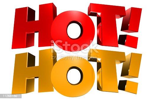 istock Hot! 3D 1126818611