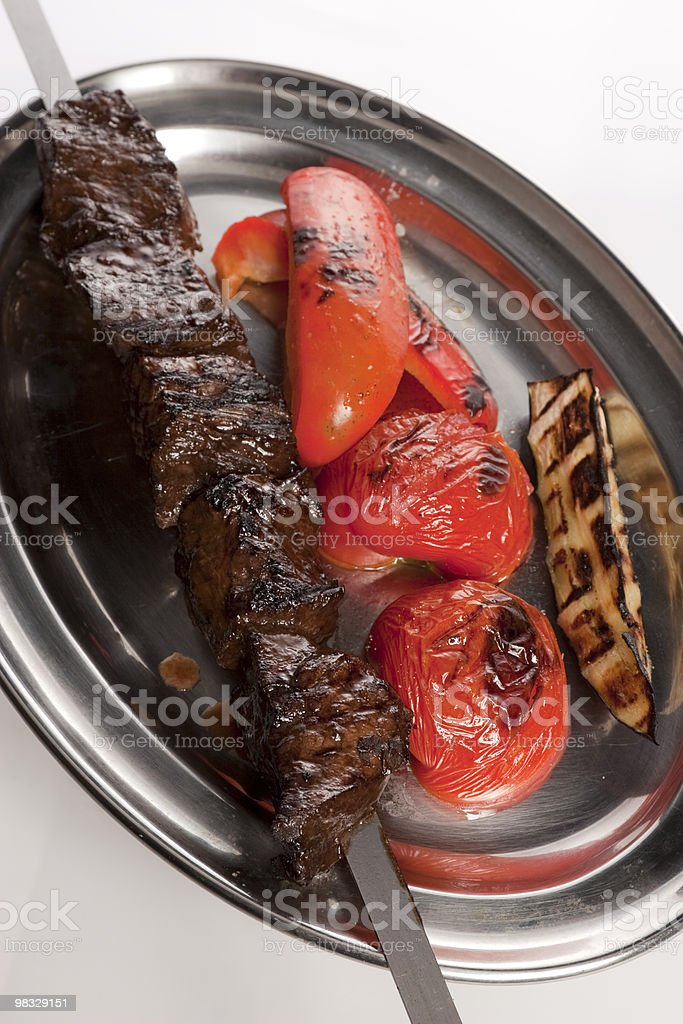 Hot a meat dish royalty-free stock photo