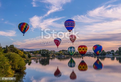 Prosser, WA, USA - September,29, 2014. Annual 25-th Hot Air Balloon Rally took place in Prosser, WA on September,27, 2014.