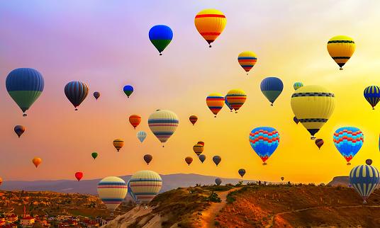 hot air ballons flight