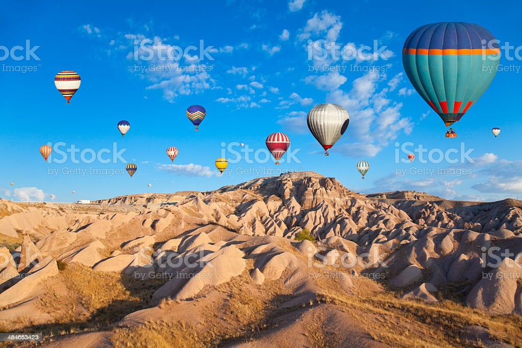 Hot Air Ballons of Cappadocia stock photo