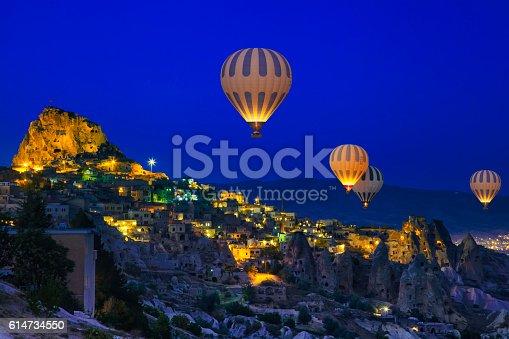 istock Hot Air Ballons of Cappadocia, Turkey 614734550