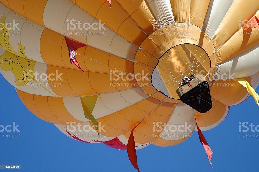 Hot Air Balloon above royalty-free stock photo