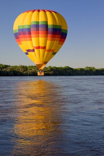 Albuquerque, New Mexico - USA - Oct 9, 2016: Hot air balloon Mass Ascension at the Albuquerque International Balloon Fiesta