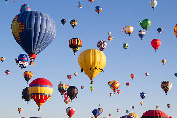 Hot Air Balloon Ascension stock photo