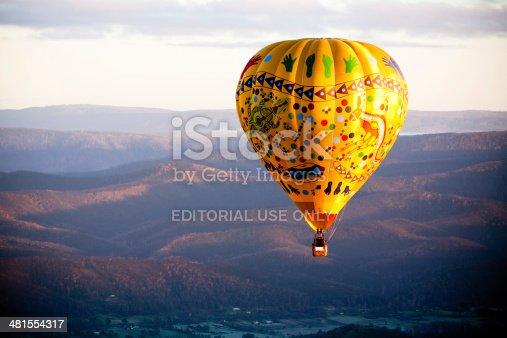 istock Hot Air Balloon At Sunrise 481554317