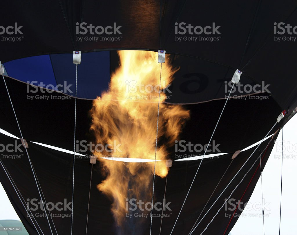 Hot air balloon being inflated royalty-free stock photo