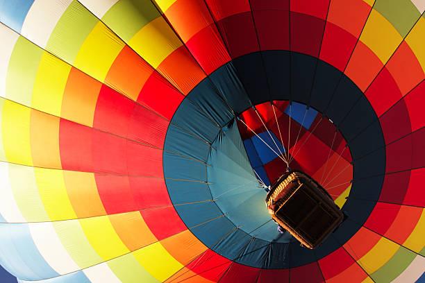 montgolfière montante gondole - montgolfière photos et images de collection