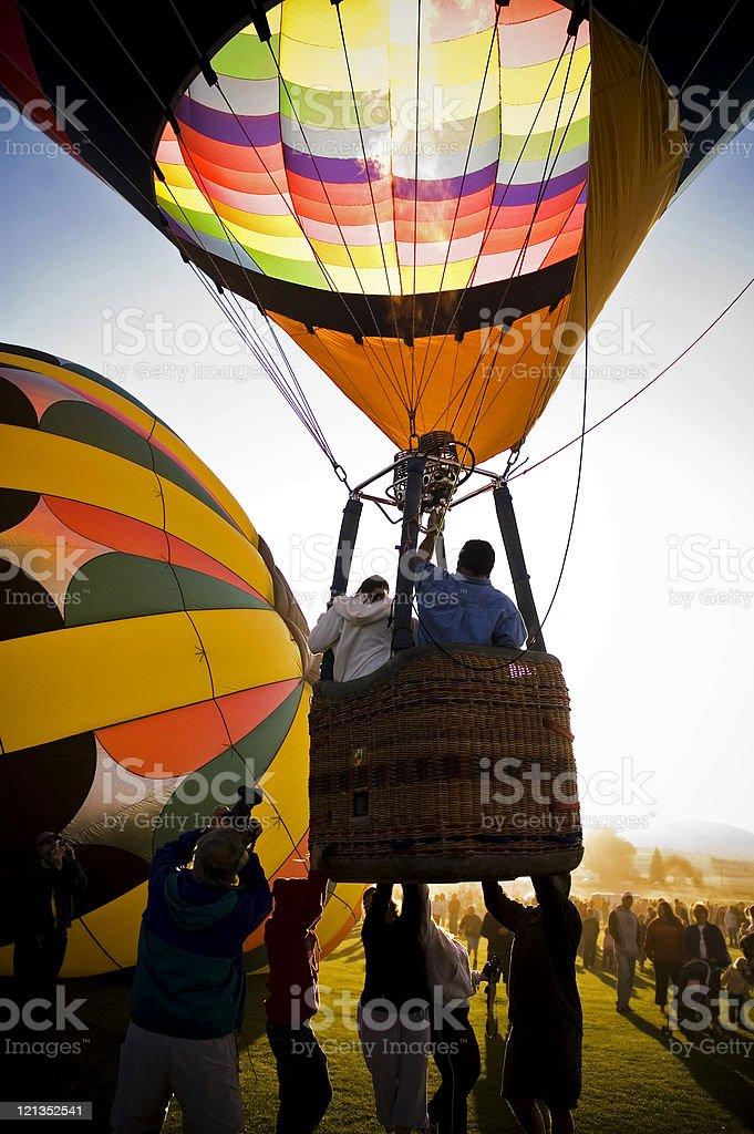 Hot Air Balloon Festival: Lift Off royalty-free stock photo