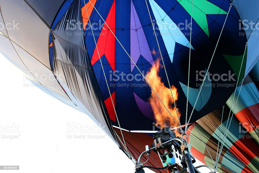 hot air balloon - firing the burner royalty-free stock photo
