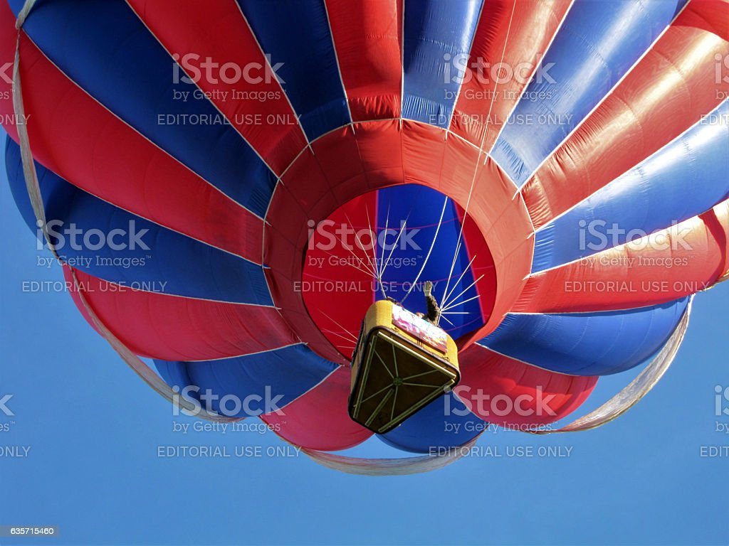 Hot air balloon from below royalty-free stock photo