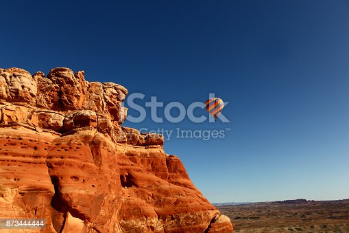 istock Hot air balloon in moab 873444444