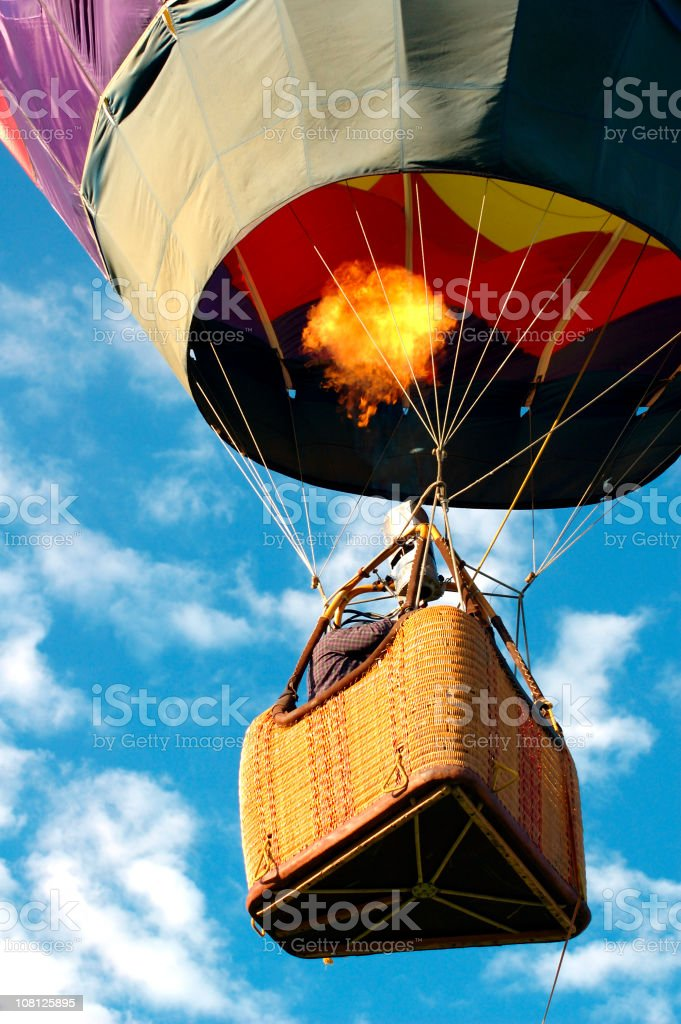Hot Air Balloon in Sky royalty-free stock photo
