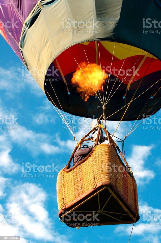 Hot Air Balloon in Sky stock photo