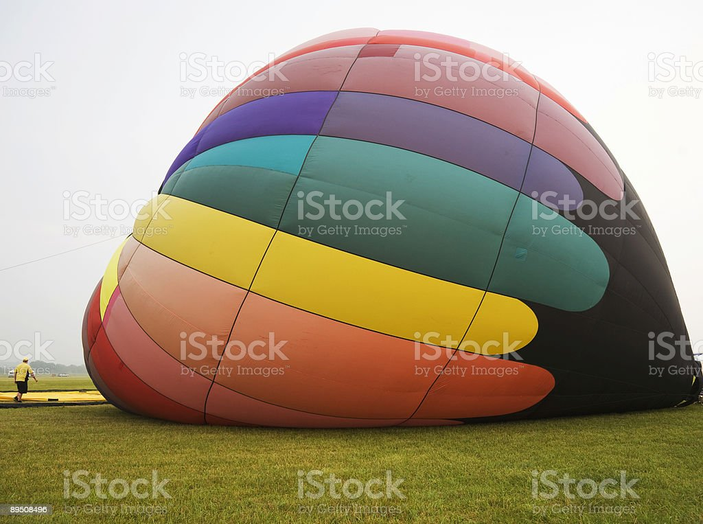 Hot Air Balloon Inflation royalty-free stock photo