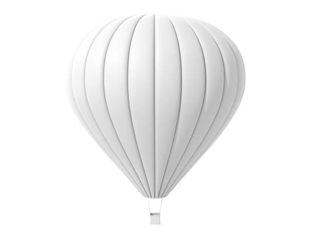 montgolfière. isolé sur le fond blanc - montgolfière photos et images de collection