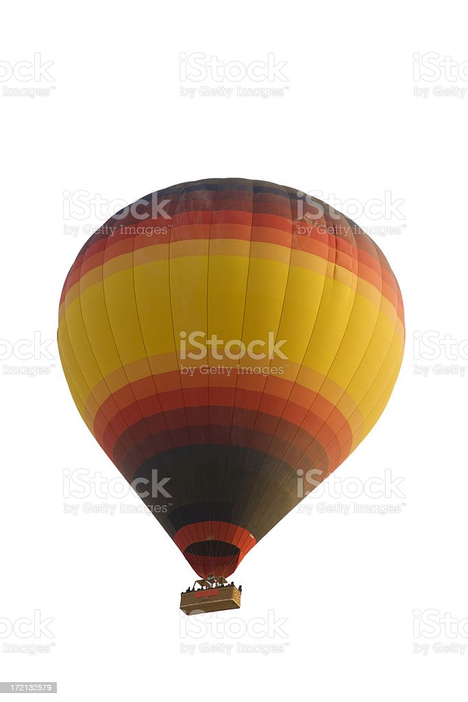 Hot Air Balloon - isolated on white background royalty-free stock photo