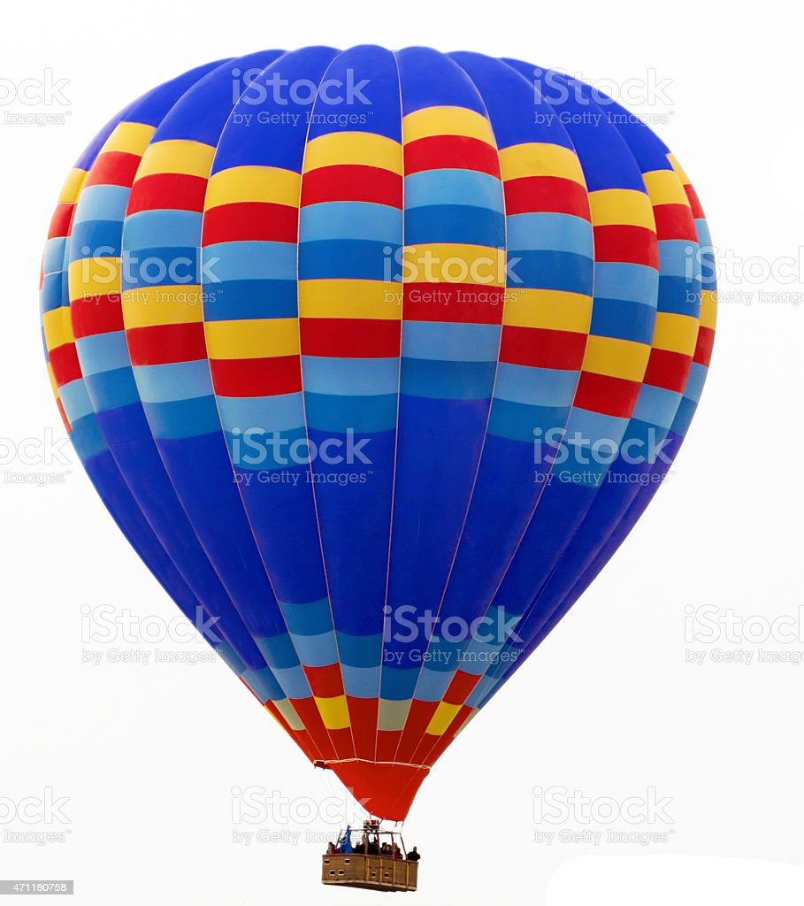 hot air balloon isolated on white stock photo