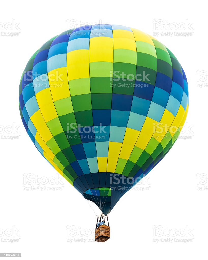 Hot air balloon isolated stock photo